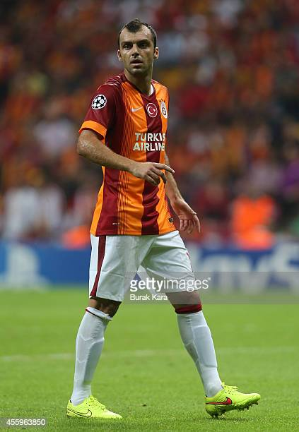Goran Pandev of Galatasaray in action during the UEFA Champions League group D match between Galatasaray AS and RSC Anderlecht on September 16 at TT...