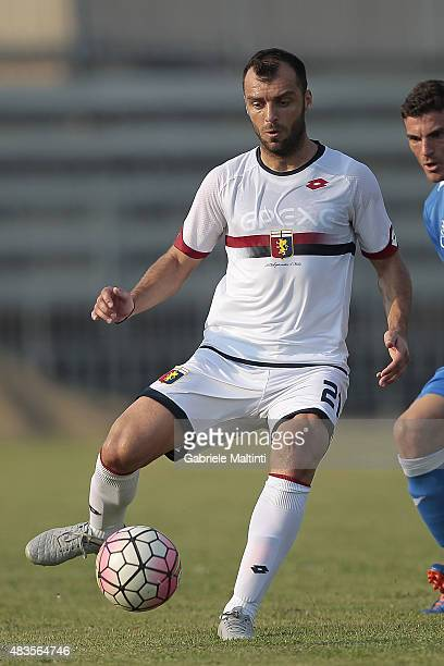 Goran Pandev of Genoa CFC in action during the preseason friendly match between Empoli FC and Genoa CFC on August 8 2015 in Massa Italy