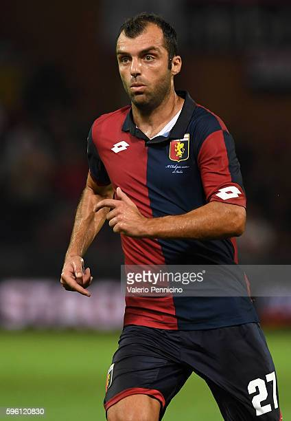 Goran Pandev of Genoa CFC looks on during the Serie A match between Genoa CFC and Cagliari Calcio at Stadio Luigi Ferraris on August 21 2016 in Genoa...