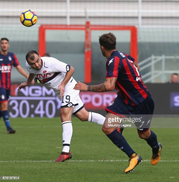 Goran Pandev of Genoa during the Serie A match between FC Crotone and Genoa CFC at Stadio Comunale Ezio Scida on November 19 2017 in Crotone Italy