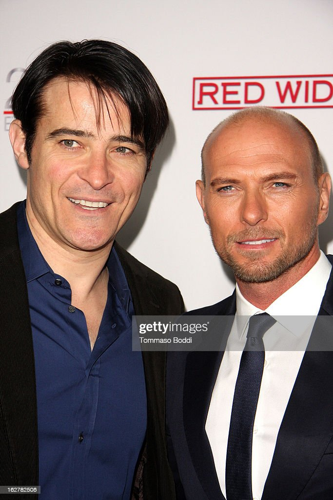 <a gi-track='captionPersonalityLinkClicked' href=/galleries/search?phrase=Goran+Visnjic&family=editorial&specificpeople=213921 ng-click='$event.stopPropagation()'>Goran Visnjic</a> (L) and <a gi-track='captionPersonalityLinkClicked' href=/galleries/search?phrase=Luke+Goss&family=editorial&specificpeople=218173 ng-click='$event.stopPropagation()'>Luke Goss</a> attend the ABC's new series 'Red Widow' held at Romanov Restaurant Lounge on February 26, 2013 in Studio City, California.