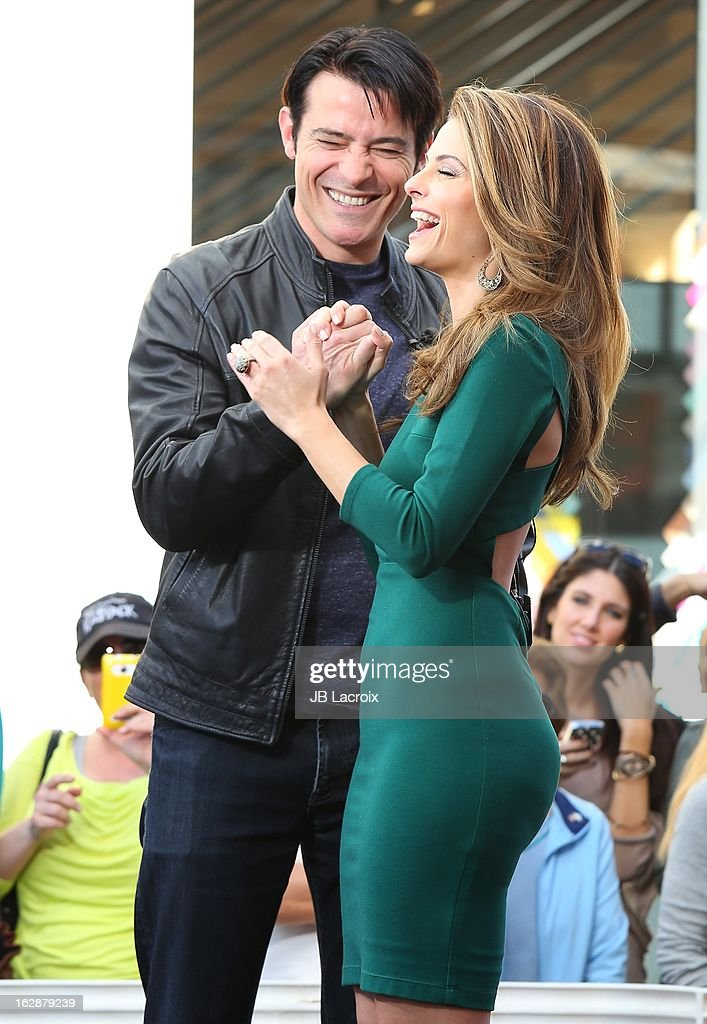 Goran Visnjic and Maria Menounos are seen at The Grove on February 28, 2013 in Los Angeles, California.