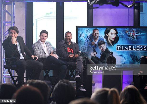 Goran Visnjic Matt Lanter and Goran Visnjic discuss 'Timeless' during the AOL BUILD Series at AOL HQ on October 10 2016 in New York City