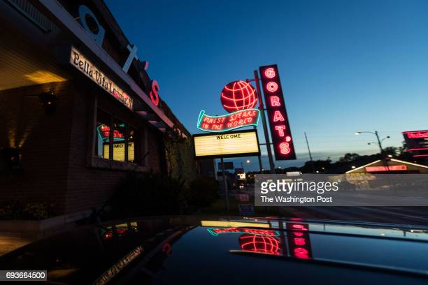 Gorat's neon sign and entry haven't changed in 70 years in Omaha Neb on May 26 2017 The restaurant is known as billionaire Warren Buffett's favorite...