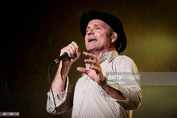 Gord Downie of The Tragically Hip performs on Day 9 of the RBC Royal Bank Bluesfest on July 17 2015 in Ottawa Canada