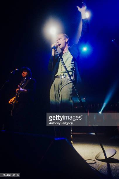 Gord Downie of The Tragically Hip performs on stage at The Fillmore in San Francisco California USA on 7th April 1999