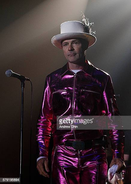 Gord Downie of The Tragically Hip performs onstage during their 'Man Machine Poem Tour' opener at Save On Foods Memorial Centre on July 22 2016 in...
