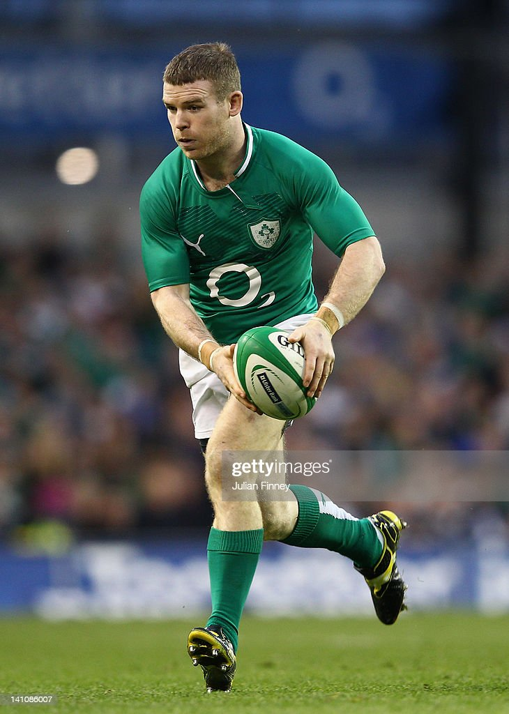 Gordan D'arcy of Ireland in action during the RBS Six Nations match between Ireland and Scotland at Aviva Stadium on March 10, 2012 in Dublin, Ireland.