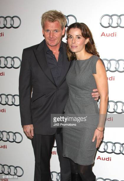Gordan Ramsay and Tana Ramsay attends the opening of the new Audi Showroom on October 12 2009 in London England