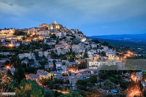 Gordes de nuit-Provence-Alpes, France