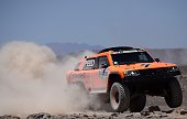 Gordini's US driver Robby Gordon and codriver Johnny Campbell compete during the Stage 5 of the Dakar 2015 between Copiapo and Antofogasta Chile on...