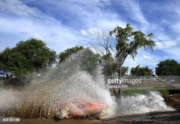 TOPSHOT Gordini's US driver Robby Gordon and codriver Kellon Walch compete during the 11km Prologue of the 2016 Dakar Rally in the province of Buenos...