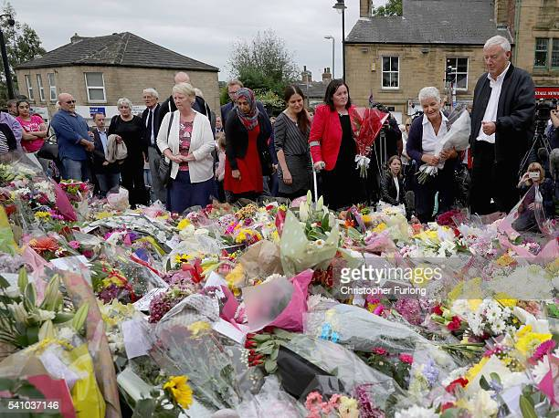 Gordon and Jean Leadbeater the parents of Labour MP Jo Cox are joining by family members and friends during their visit to see the floral tributes to...