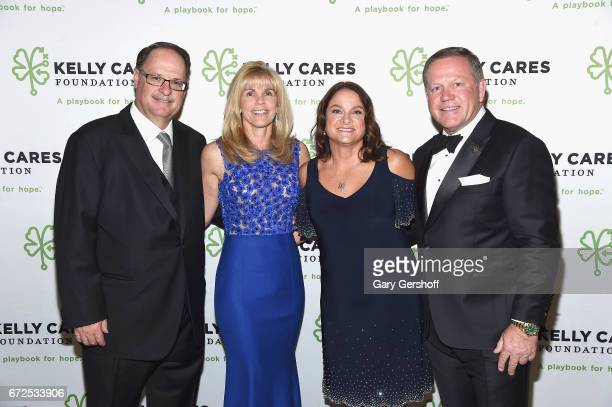 Gordon Bouchard Linda Bouchard Paqui Kelly and Brian Kelly attend the 2017 Kelly Cares Foundation Irish Eyes Gala at The Pierre Hotel on April 24...