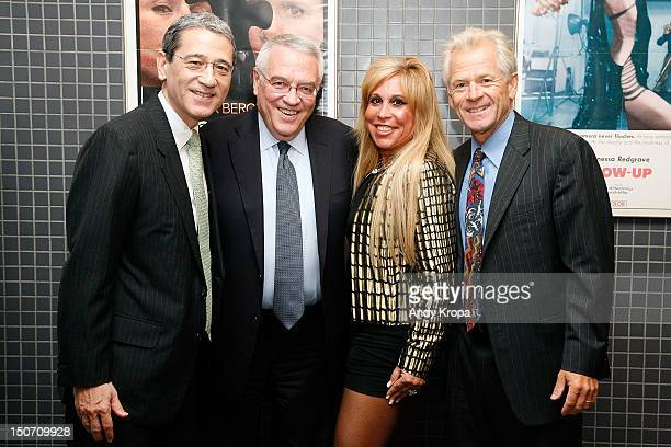 Gordon Chang Leo Hindery Lynn Tilton and director Peter Navarro attend the 'Death By China' screening at the Quad Cinema on August 24 2012 in New...