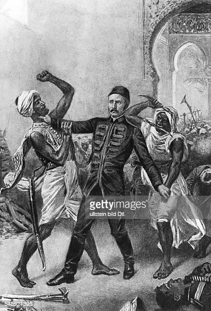 Gordon Charles Georges *28011833Generalmajor Generalgouverneur im Sudan GB seine Ermordung in Khartum zeitgenoessische Darstellung
