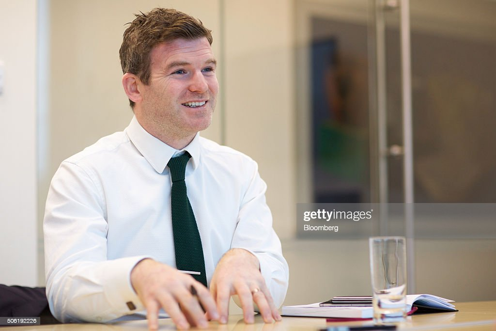 <a gi-track='captionPersonalityLinkClicked' href=/galleries/search?phrase=Gordon+D%27Arcy&family=editorial&specificpeople=220551 ng-click='$event.stopPropagation()'>Gordon D'Arcy</a>, investment manager at Investec Capital & Investments Ireland Ltd., reacts during an interview in Dublin, Ireland, on Monday, Jan. 18, 2016. Just months after retiring as Ireland's longest-serving international player, D'Arcy has joined Investec as an investment manager in Dublin. Photographer: Patrick Bolger/Bloomberg via Getty Images