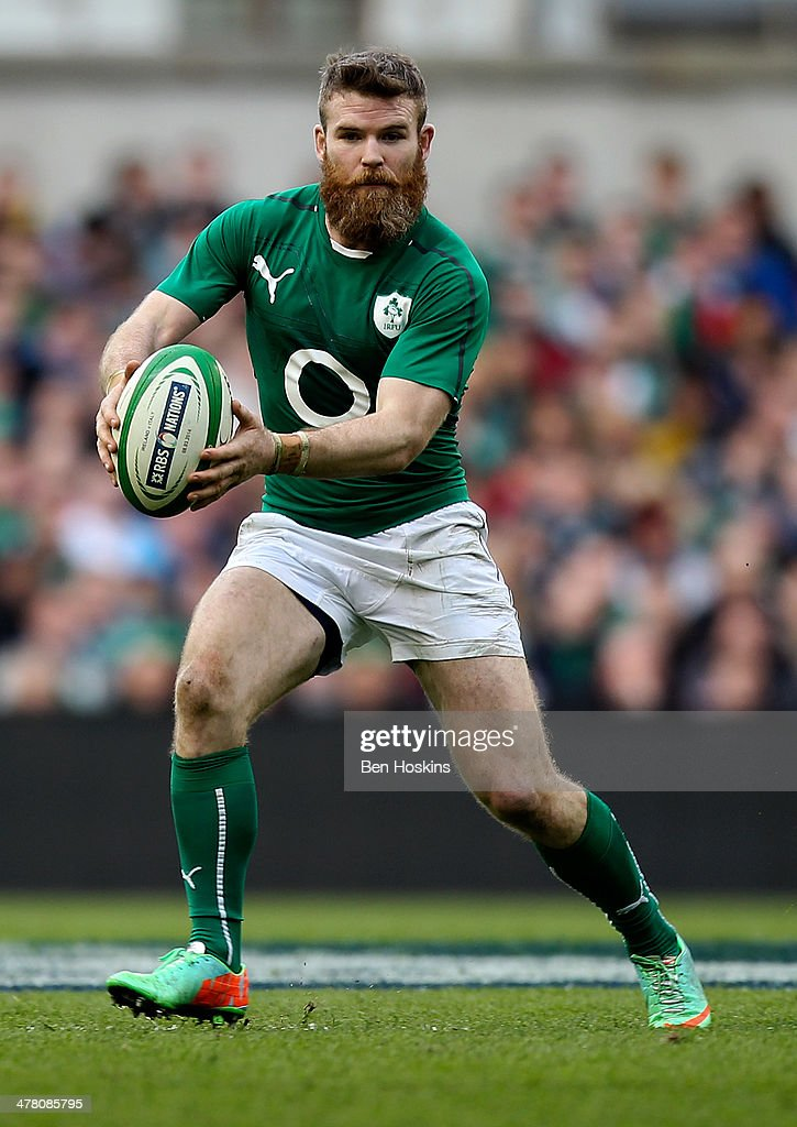 Gordon D'arcy of Ireland in action during the RBS Six Nations match between Ireland and Italy at Aviva Stadium on March 8, 2014 in Dublin, Ireland.