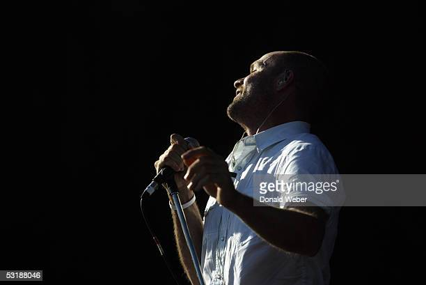 Gordon Downie of the Tragically Hip performs during the Live 8 concert on July 2 2005 in Barrie Canada The goal of the Live 8 series is to raise...