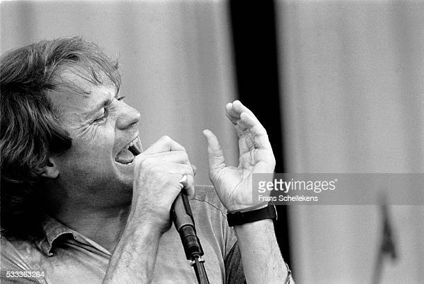 Gordon Downie vocal performs with the Tragically Hip during pinkpop festival on June 28th 1992 at Landgraaf the Netherlands