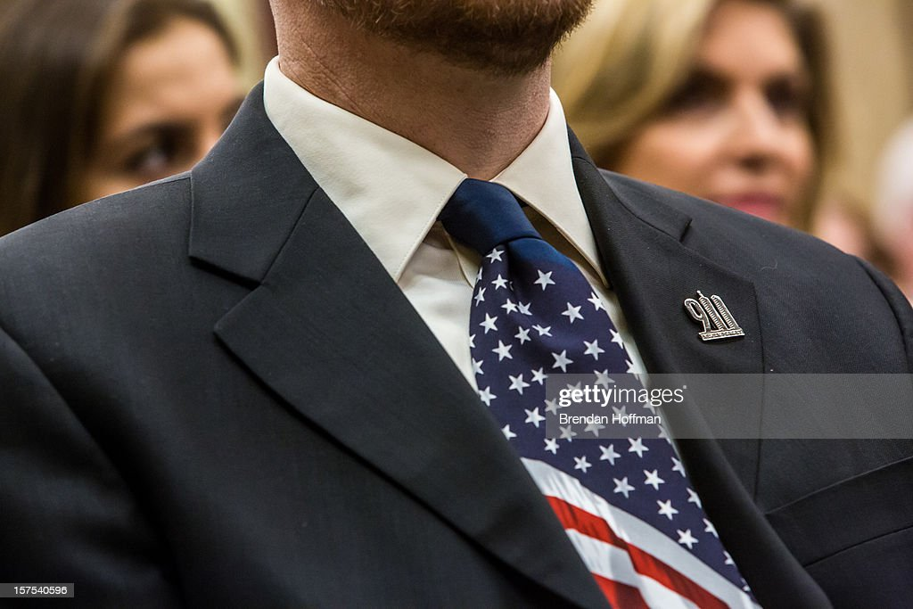 Gordon Felt, whose brother was killed on Flight 93, listens during an event on Capitol Hill to raise awareness of the unfinished national memorial to the passengers and crew of Flight 93 on December 4, 2012 in Washington, DC. The plane was hijacked on September 11 but passengers and crew fought back, crashing the plane into a field in Shanksville, Pennsylvania.