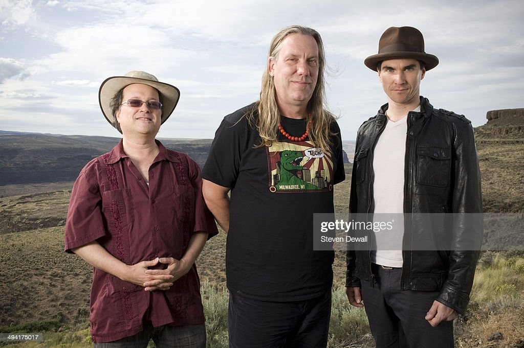 Gordon Gano, Brian Ritchie and Brian Viglione of The Violent Femmes pose for a portrait backstage on day 2 of Sasquatch! Music Festival at the Gorge Amphitheater on May 24, 2014 in George, United States.