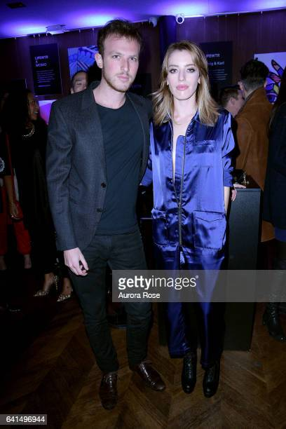 Gordon Goodman and Clara McGregor attend The Daily Front Row x LIFEWTR NFYW Opening Night at Kola House on February 9 2017 in New York City