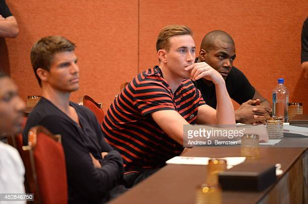 Gordon Hayward attends the USA Basketball Men's National Team Meeting at the Wynn Las Vegas on July 27 2014 in Las Vegas Nevada NOTE TO USER User...