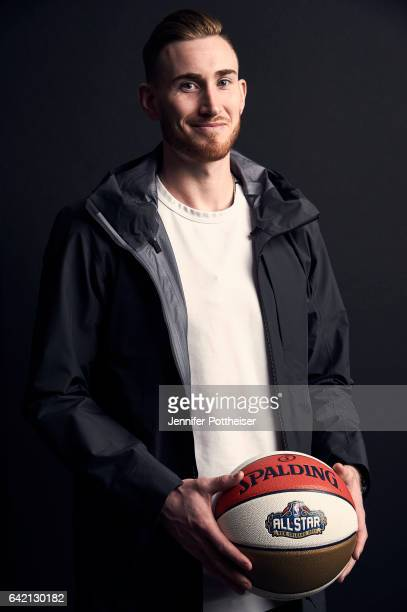 Gordon Hayward of the Uah Jazz poses for portraits during the NBAE Circuit as part of 2017 AllStar Weekend at the RitzCarlton Hotel on February 16...