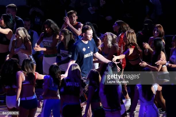 Gordon Hayward of the Utah Jazz during the Taco Bell Skills Challenge during State Farm AllStar Saturday Night as part of the 2017 NBA AllStar...