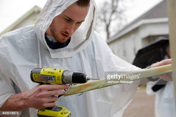 Gordon Hayward of the Utah Jazz participate during the NBA Cares Day of Service as part of 2017 AllStar Weekend at the KaBOOM Rebuilding Together at...