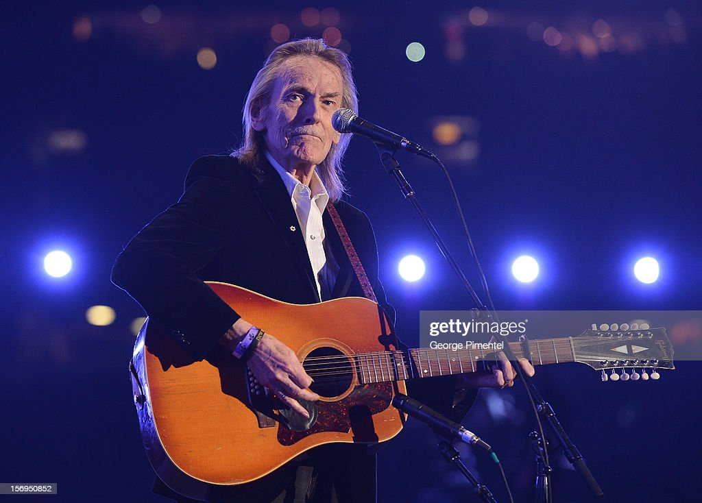Gordon Lightfoot performs during the halftime show at the CFL's 100th Grey Cup Championship at the Rogers Centre on November 25, 2012 in Toronto, Canada.
