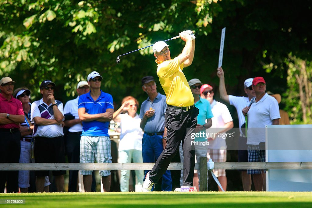 Gordon Manson of Austria in action during the final round of the Bad Ragaz PGA Seniors Open played at Golf Club Bad Ragaz on July 6, 2014 in Bad Ragaz, Switzerland.