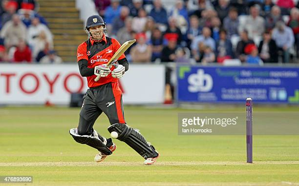 Gordon Muchall of Durham during the NatWest T20 Blast match between Durham Jets and Worcestershire Rapids at The Emirates Durham ICG on June 12 2015...