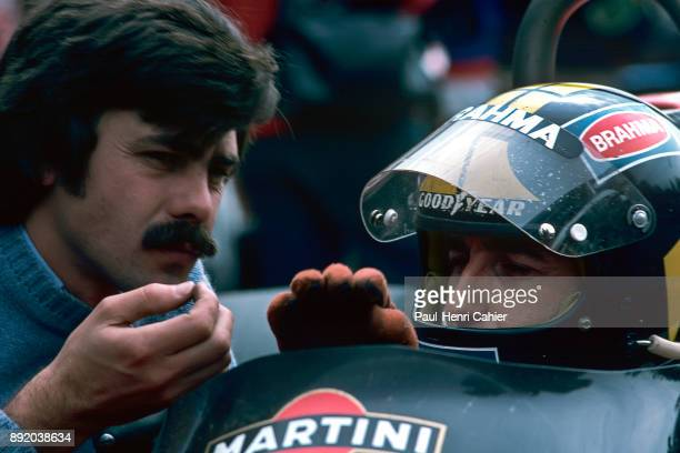 Gordon Murray Carlos Pace BrabhamAlfa Romeo BT45 Grand Prix of Italy Autodromo Nazionale Monza 12 September 1976 Gordon Murray with Carlos Pace