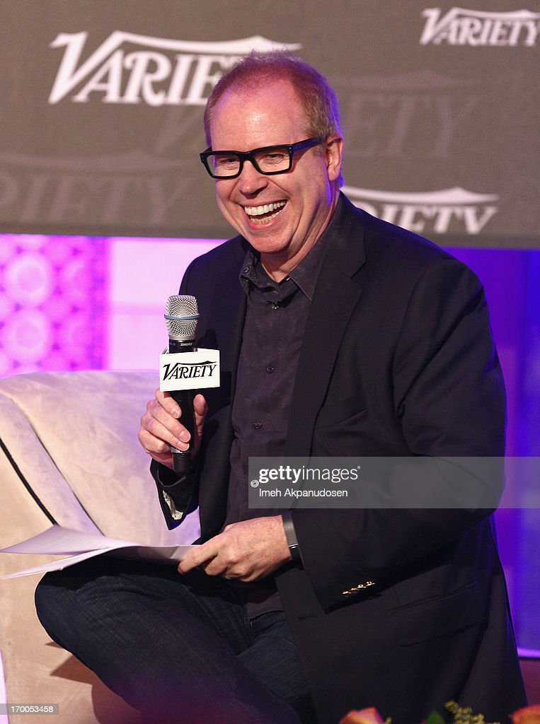 Gordon Paddison of Stradella Road speaks onstage during the 'A Conversation With Google' panel at Variety Presents