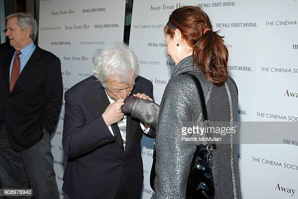 Gordon Pinsent and Debra Messing attend THE CINEMA SOCIETY and THE WALL STREET JOURNAL host a screening of 'Away from Her' at IFC Center on May 2...