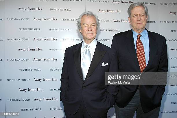 Gordon Pinsent and Michael Murphy attend THE CINEMA SOCIETY and THE WALL STREET JOURNAL host a screening of 'Away from Her' at IFC Center on May 2...