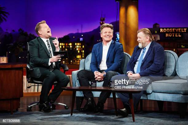 Gordon Ramsay and Brendan Gleeson chat with James Corden during 'The Late Late Show with James Corden' Tuesday August 1 2017 On The CBS Television...