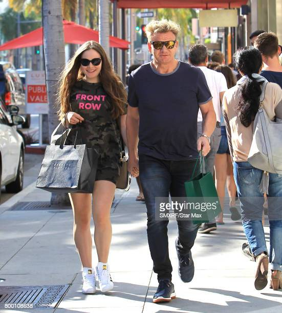 Gordon Ramsay and daughter are seen on June 22 2017 in Los Angeles California