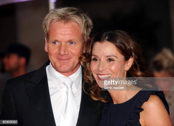Gordon Ramsay and his wife Tanya Ramsay arrive for the Daily Mirror's Pride Of Britain Awards 2009 at the Grosvenor House Hotel on October 5 2009 in...