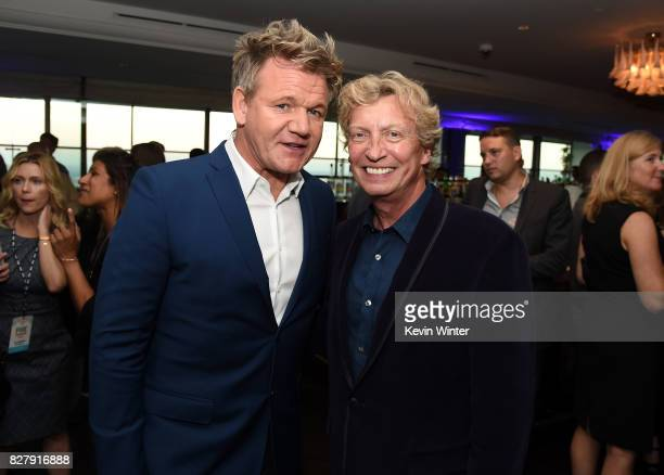 Gordon Ramsay and Nigel Lythgoe attend the FOX 2017 Summer TCA Tour after party on August 8 2017 in West Hollywood California