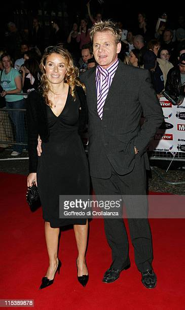 Gordon Ramsay and Tana Ramsay during The Daily Mirror 2005 Pride of Britain Awards at TV Center in London Great Britain