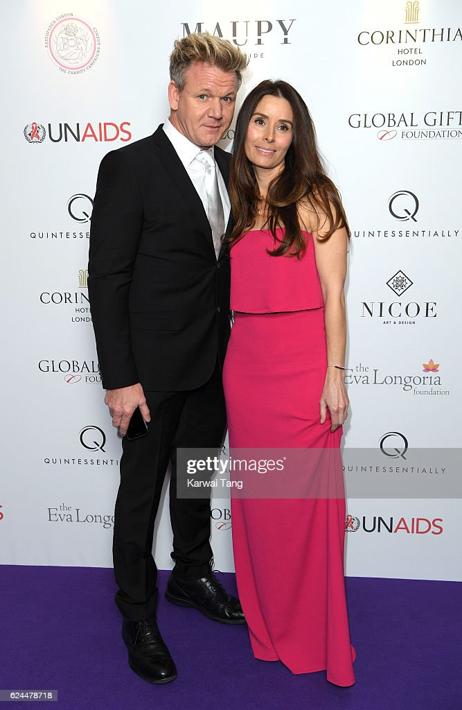 Gordon Ramsay and wife Tana attend the Global Gift Gala in partnership with Quintessentially on November 19, 2016 at the Corithinia Hotel in London, United Kingdom.