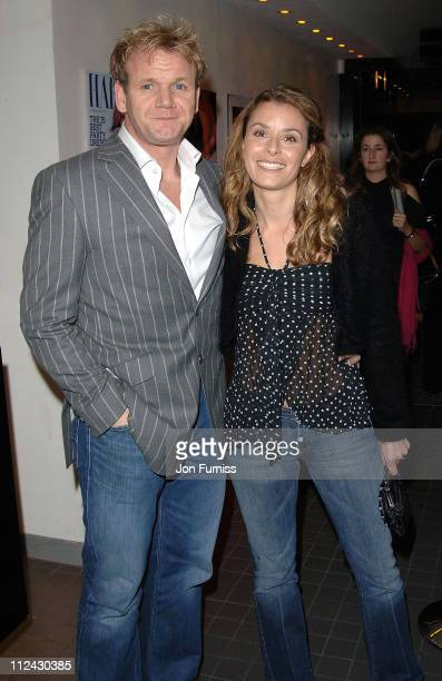 Gordon Ramsay and wife Tana Ramsay during The Harpers MOeet Restaurant Awards 2005 at Floridita in London Great Britain