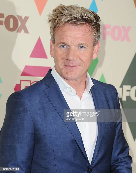 Gordon Ramsay arrives at the 2015 Summer TCA Tour FOX AllStar Party at Soho House on August 6 2015 in West Hollywood California