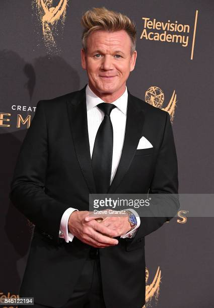 Gordon Ramsay arrives at the 2017 Creative Arts Emmy Awards Day 1 at Microsoft Theater on September 9 2017 in Los Angeles California