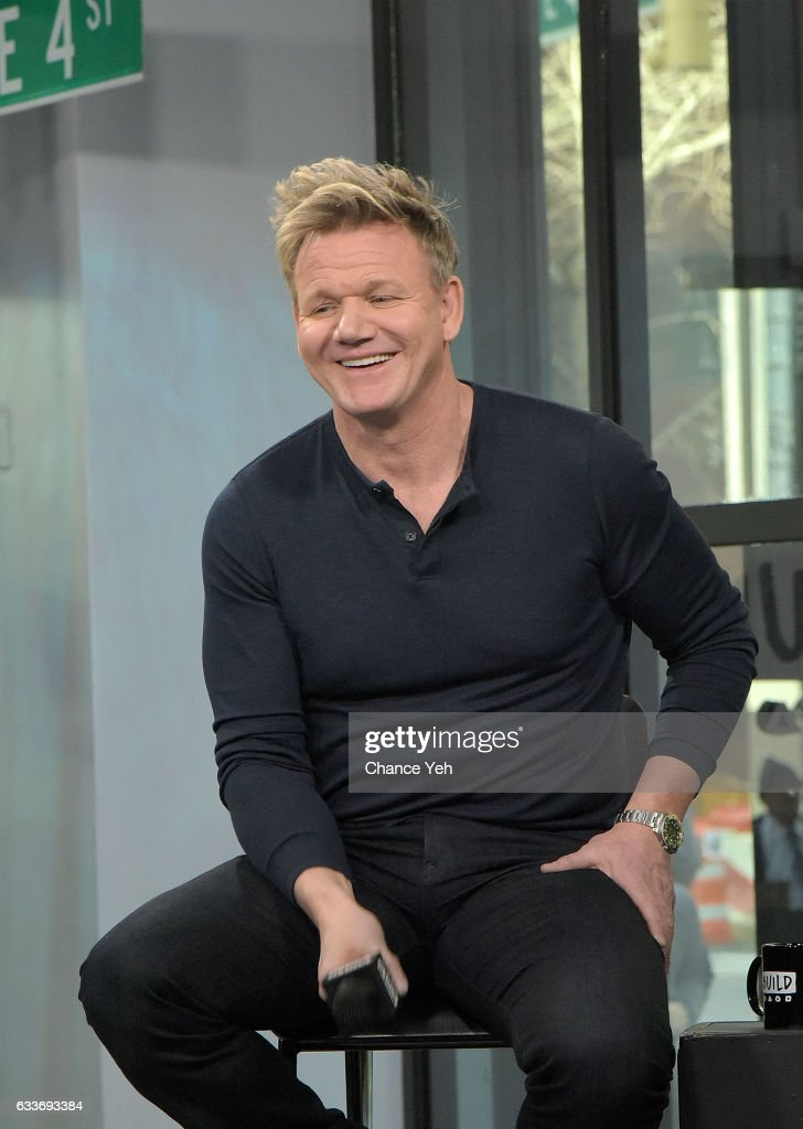 Gordon Ramsay attends Build series to discuss 'MasterClass: Gordon Ramsay Teaches Cooking' at Build Studio on February 3, 2017 in New York City.
