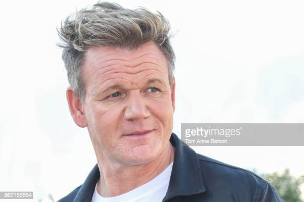 Gordon Ramsay attends Photocall as part of MIPCOM at the Palais des Festivals on October 16 2017 in Cannes France