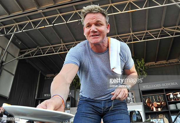 Gordon Ramsay attends the 4th Annual BottleRock Napa Music Food Wine Festival on Day 1 at Napa Valley Expo on May 28 2016 in Napa California